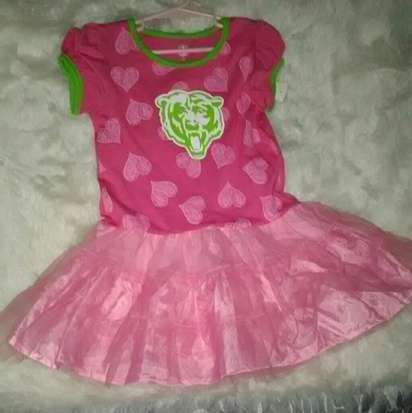 size 40 b9b35 14b1e NEW! NFL Chicago Bears 4t Pink Dress Boutique